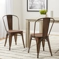 Tabouret Vintage Wood Seat Bistro Chair