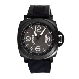 Breed Men's Gunar Black Silicone Black Analog Watch