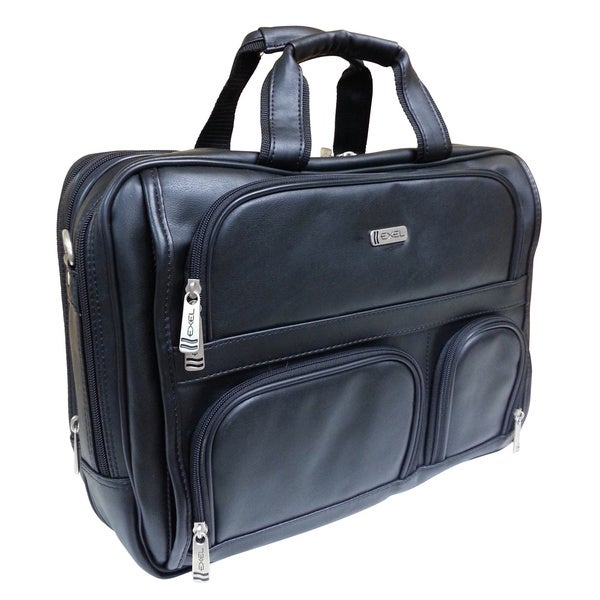 Exel Expandable Vinyl 17-inch Laptop Briefcase