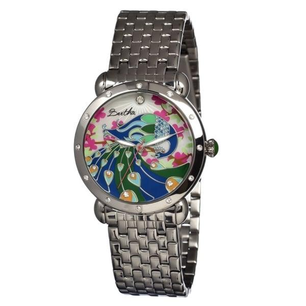 Bertha Women's Didi Multi Metal Silver Analog Watch