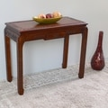 International Caravan Windsor 'Ming' Hand-carved Hardwood One-drawer Console/ Wall Table