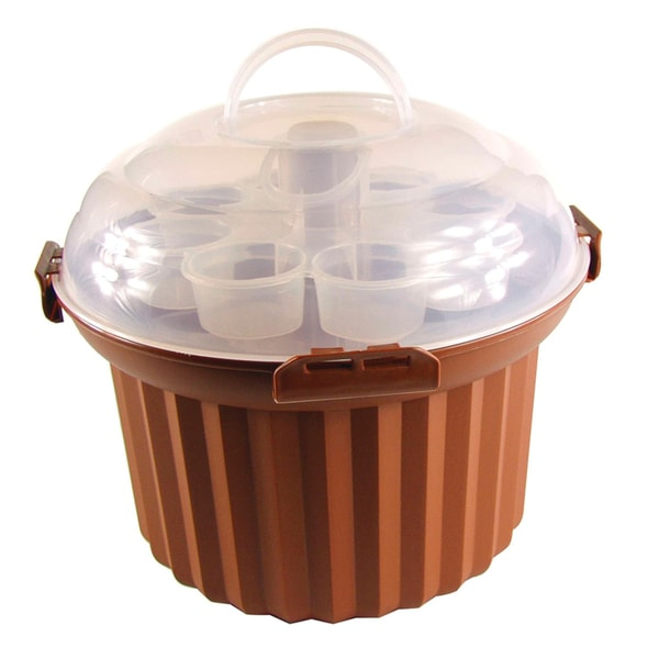 Fox Run Brands 24 Cupcake Brown Carousel