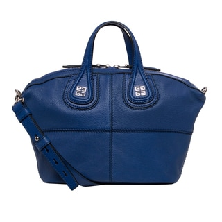 Givenchy 'Micro Nightingale' Cobalt Goatskin Leather Satchel