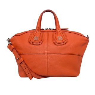 Givenchy 'Micro Nightingale' Orange Goatskin Leather Satchel