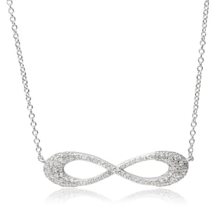 Tressa Collection Sterling Silver Cubic Zirconia Infinity Pendant Necklace