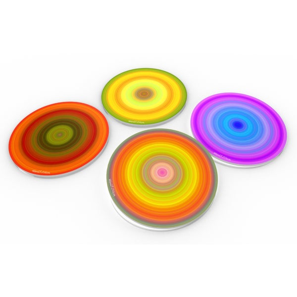 Zoom Crystal Clear Glass Coaster (Set of 4 or 6) 12844051