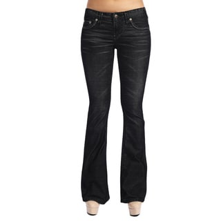 Stitch's Women's Black Boot Leg Thin Corduroy Jeans