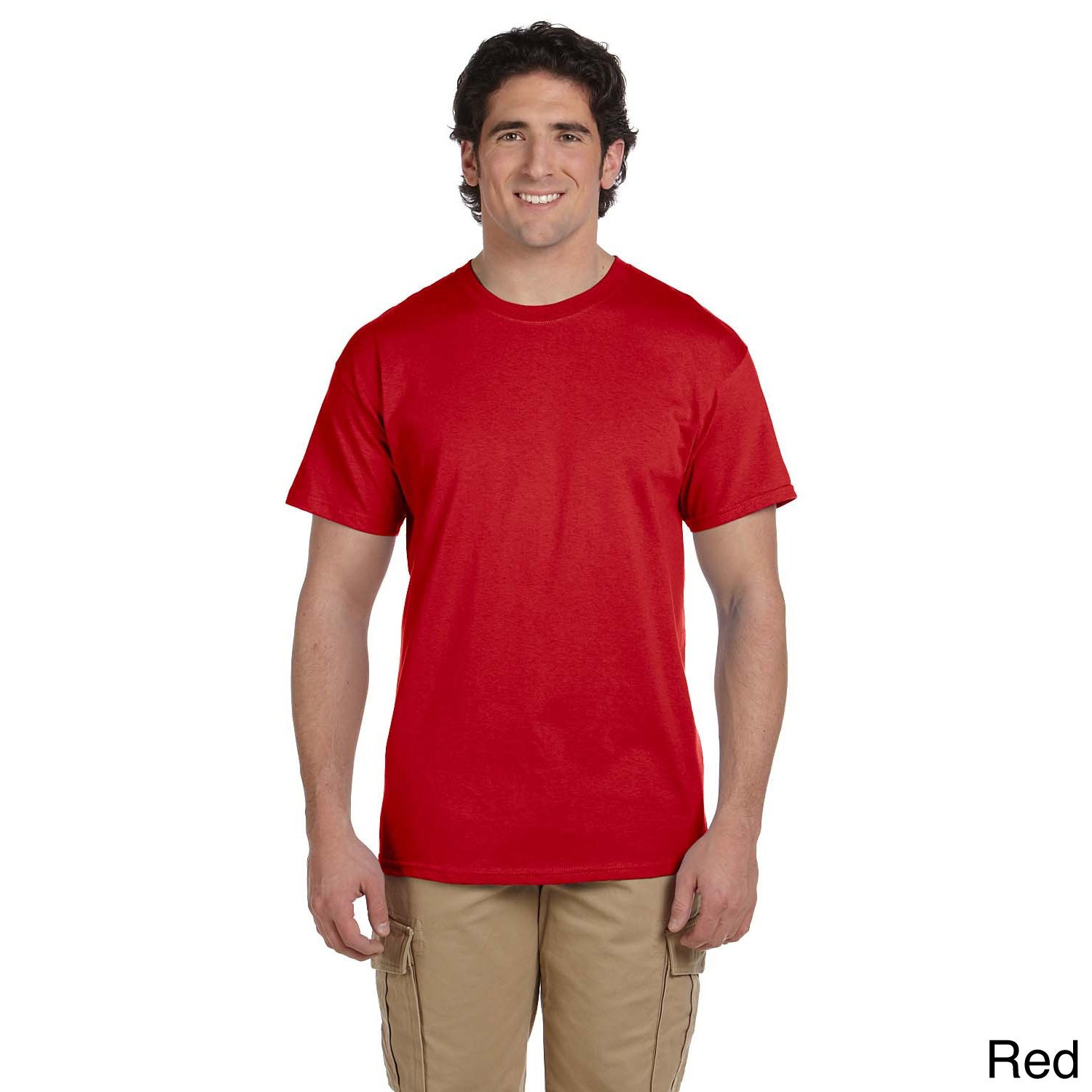 Gildan Gildan Mens Ultra Cotton Tall Short Sleeve T shirt Red Size XL
