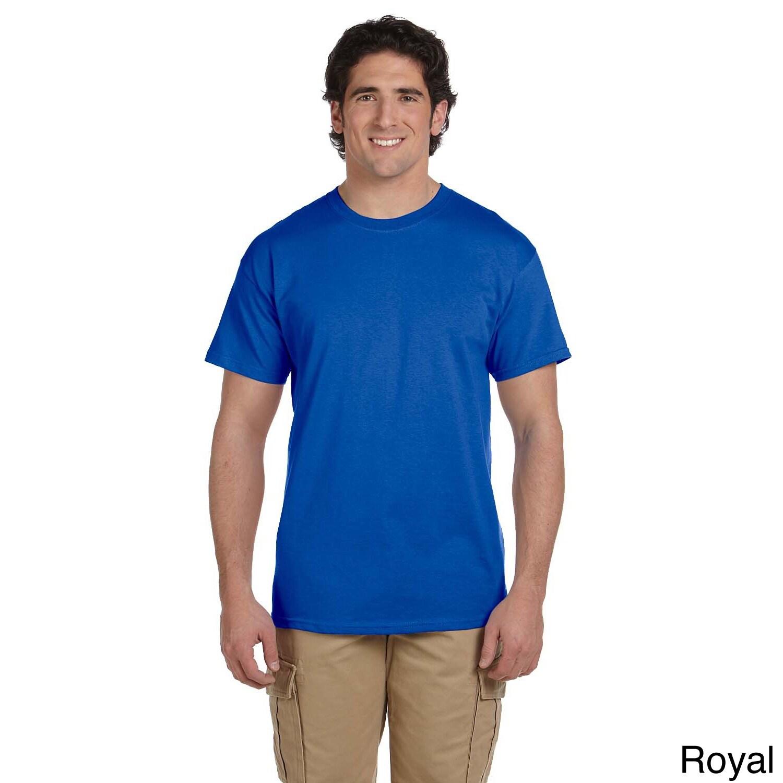 Gildan Gildan Mens Ultra Cotton Tall Short Sleeve T shirt Blue Size XL