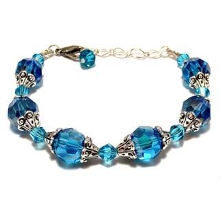 Aqua Blue Crystal 4-piece Wedding Jewelry Set