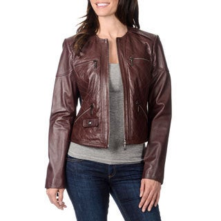 Bernardo Women's Quilted Leather Jacket
