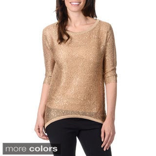 Yal New York Women's High-low Lightweight Sweater