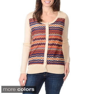 Yal New York Women's Zig Zag Printed Cardigan