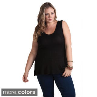 Sealed With a Kiss Women's Plus Size 'Piper' Sleeveless Peplum Top