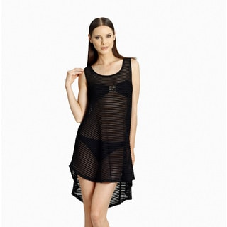 Jordan Taylor Women's Black Sheer Mesh Tank Dress