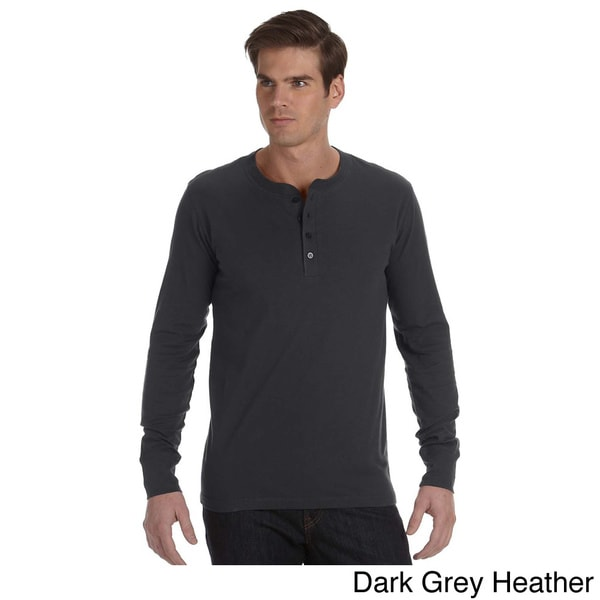 Canvas Men's Long Sleeve Jersey Henley 12844798