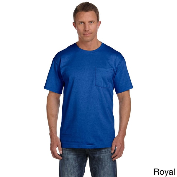 Fruit of the Loom Men's Heavyweight Cotton Chest Pocket T-shirt (As Is Item)