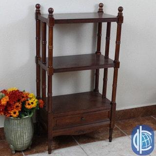 International Caravan Windsor Carved Hardwood 3-tier/ 1-drawer Bookshelf