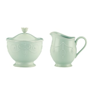 Lenox Ice Blue French Perle Sugar and Creamer Set