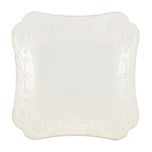 Lenox White French Perle Square Dinner Plate