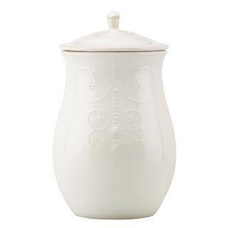 Lenox 'French Perle' White Cookie Jar