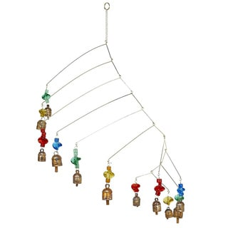 Handmade 'On The Move' Multi-colored Wind Chime (India)