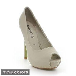 Reneeze Women's 'Judy-3' Peep-Toe Stiletto Pumps