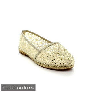 Reneeze Women's 'June-1' Crocheted Espadrille Flats Today: $26.99