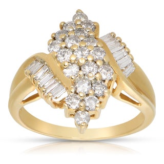 14k Yellow Gold 1 1/10ct TWD Diamond Fashion Ring (J-K, I2-I3)