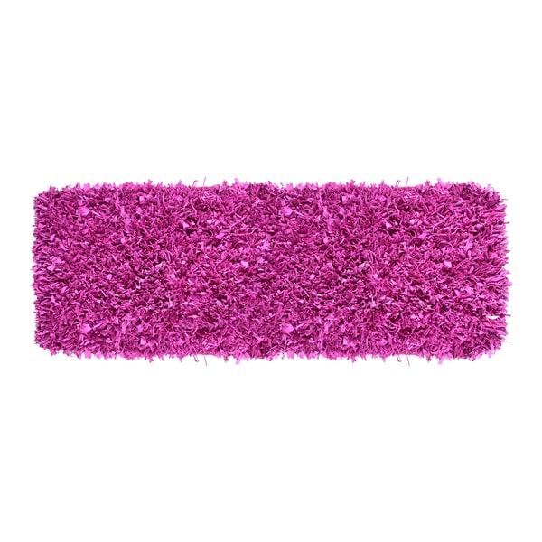 Hand-woven Jersey Purple Cotton Shag Runner Rug (2' x 6')