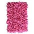 Hand-knotted Jersey Pink Cotton Shag Rug (2' x 3')