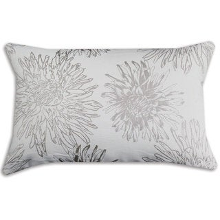 Astonish Seashell Rectangular White/ Grey Throw Pillow