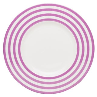 Red Vanilla Freshness Lines 9-inch Violet Salad Plates (Set of 6)
