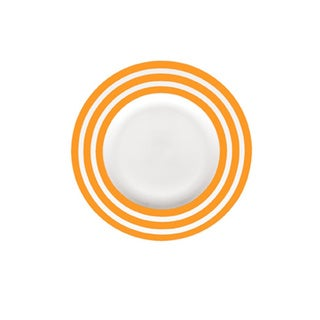 Red Vanilla Freshness Lines Orange 9-inch Salad Plate (Set of 6)