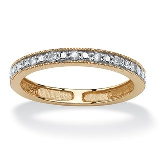 Isabella Collection 10k Two-tone Gold 1/10ct TDW Diamond Wedding Band (G-H, I2-I3)