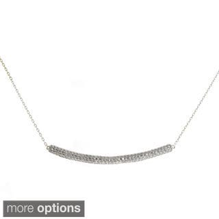 Moise 18k Goldplated Sterling Silver Cubic Zirconia Pave Bar Necklace