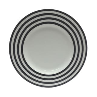 Red Vanilla Freshness Black Lines 11.25-inch Dinner Plates (Set of 6)