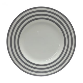 Red Vanilla Freshness Grey Lines 11.25-inch Dinner Plates (Set of 6)