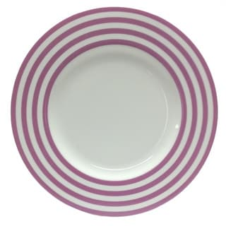 Red Vanilla Freshness Violet Lines 11.25-inch Dinner Plates (Set of 6)