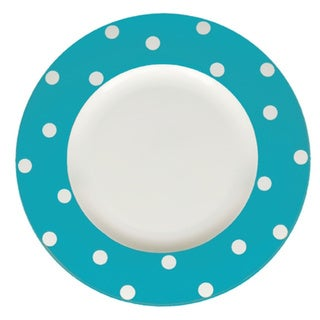 Red Vanilla Freshness Mix & Match Turquoise Dots 11.25-inch Dinner Plates (Set of 6)