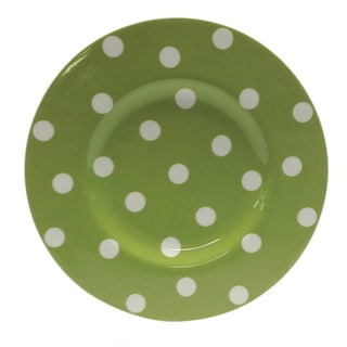 Red Vanilla Freshness Olive Dots 9-inch Salad Plates (Set of 6)