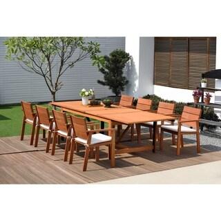 Amazonia Megan 9-piece Dining Wood Set