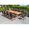 Allyson 11-piece Eucalyptus Wood Dining Set