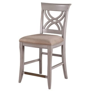 Dove Grey Upholstered 24-inch Bar Stool (Set of 2)