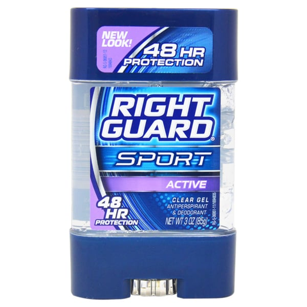 Right Guard Sport 3-D Odor Defense Clear Gel Active Deodorant Stick