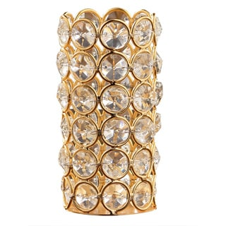 Gold Crystal Tealight Holder