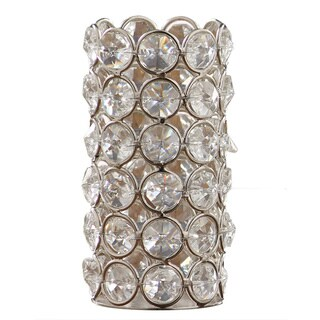 Silver Crystal 4.5-inch Tealight Holder
