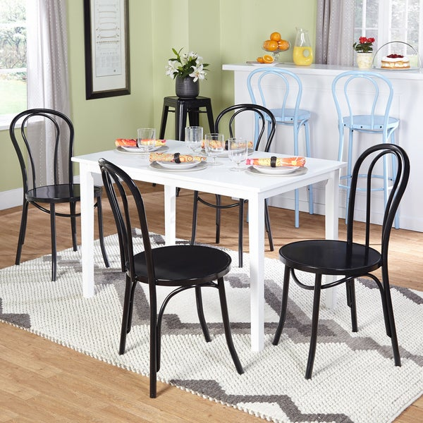 Simple Living Vintage Occasion Black/ White 5-piece Dining Set