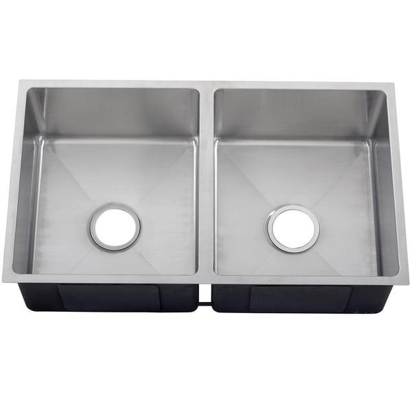 ... Stainless Steel Double Bowl Zero Radius Undermount Square Kitchen Sink
