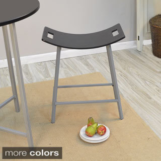 Callie Metal/ Wood Saddle Stool